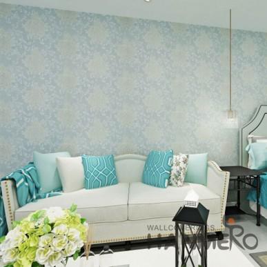 Embossed Waterproof Damask PVC Wallpaper for Bedroom