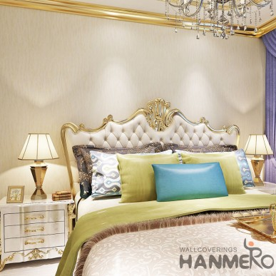 HANMERO Modern Simple Removable Beige Wallpaper For Home Decoration