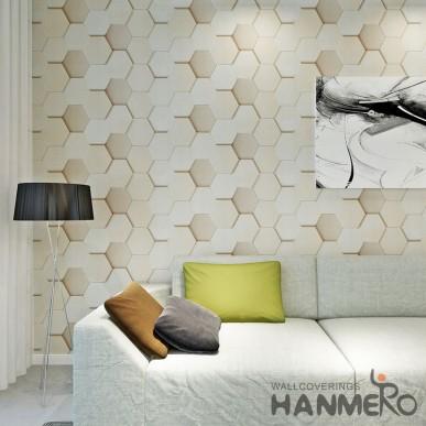HANMERO Vinyl Geometric 3D Modern Living Room Wallpaper Decoration