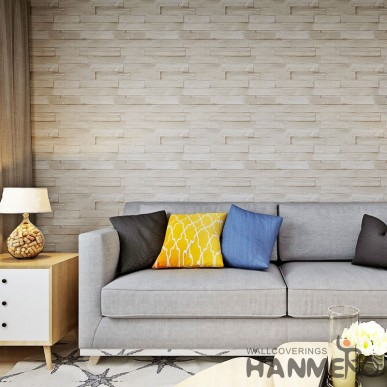 HANMERO PVC Modern 3D Brick Embossed Wallpaper For TV Background Living Room