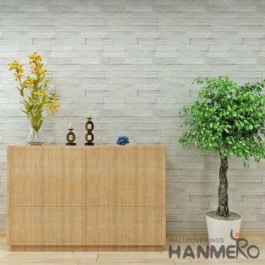 HANMERO Modern Brick Styple Vinyl Embossed 3D Vintage Wallpaper