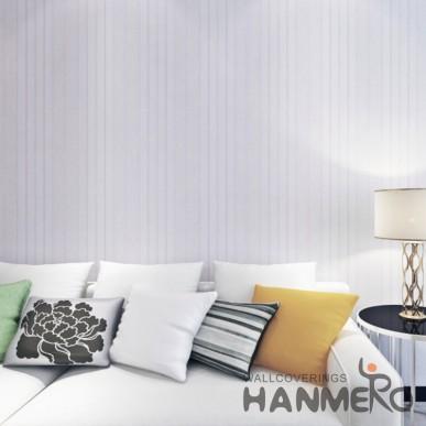 HANMERO Puple Stripe Line PVC Embossed Bedroom/Living Room Wallpaper