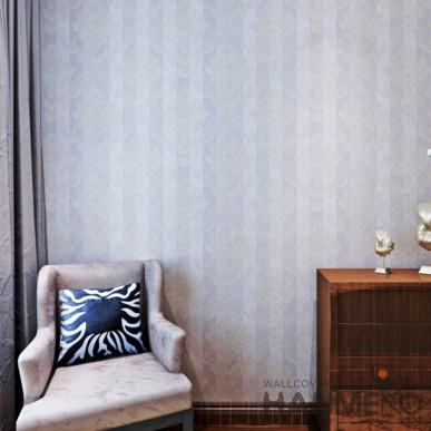 HANMERO Vinyl Light Purple Floral Embossed Home Decorative Wallpaper