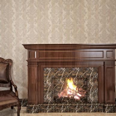 HANMERO PVC European Floral 0.53*10M Embossed Wallpaper For Bedding Room