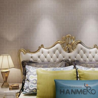 HANMERO Brown PVC Room Decorative Embossed PVC Wallpaper