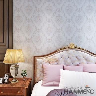 HANMERO PVC European Big Flower 0.53*10M Wallpaper