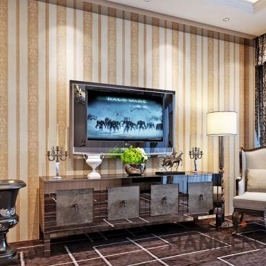 HANMERO European  Stripe Flower Vinyl Embossed TV Background Home Wallpaper