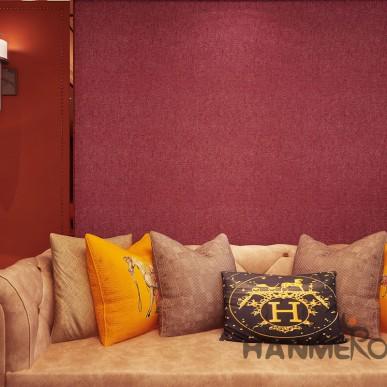 HANMERO Modern Wine Red Simple Decorative PVC Embossed Home Wallpaper