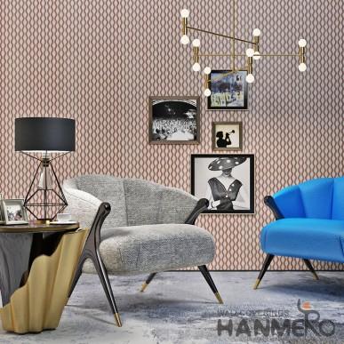 HANMERO Geometric 3D Wave Pattern Brown Wall Decoration PVC Wallpaper