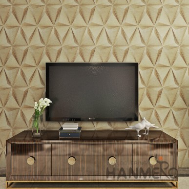 HANMERO Modern Geometric 3D Club PVC Embossed Wallpaper