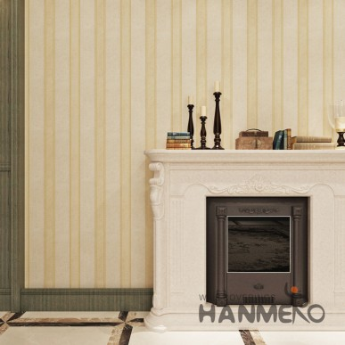 HANMERO Modern Golden Stripes Simple Embossed PVC SGS Wallpaper