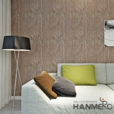 HANMERO Solid Brown Color PVC Modern Simple Wallpaper For Wall Decor