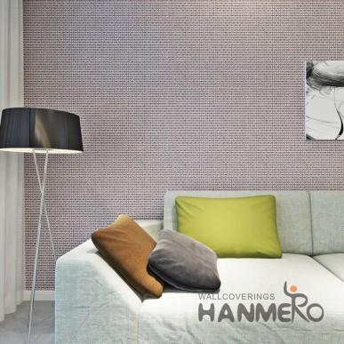 HANMERO Geometric Deep Brown Modern Durable PVC Bedroom Wallpaper
