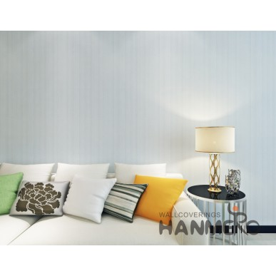 HANMERO Light Blue Plain Color Modern Simple PVC Remoavble Wallpaper For Living Room