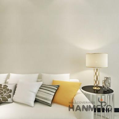 HANMERO PVC Beige Pure Color Modern Simple Decorative Embossed Wallpaper