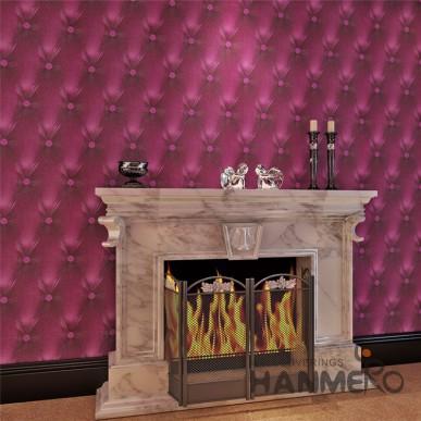 HANMERO 3D Red Sofa Patten PVC Modern Embossed Waterproof Wallpaper