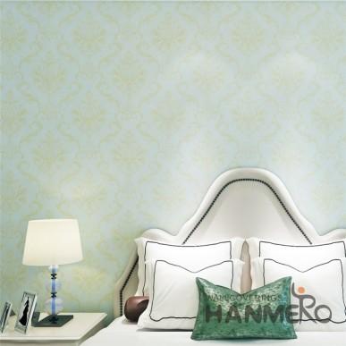 HANMERO Light Brown European Removable Plain Color Vinyl Wallpaper Embossed