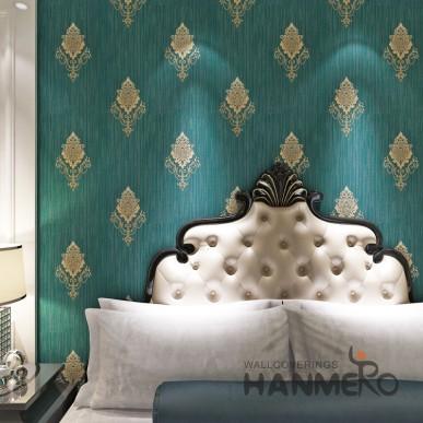 HANMERO Atrovirens PVC European Flowers Vinyl Embossed Eco Wallpaper