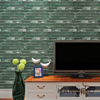 HANMERO Modern Vintage 3D Brick PVC Embossed Wallpaper For Living Room